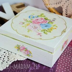pudełko pudełka zielone drewniane - romantyczny