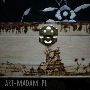 pudełka łąka pudełko geiszy - ręcznie wypalane