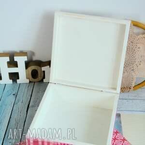 pudełko pudełka białe - home sweet