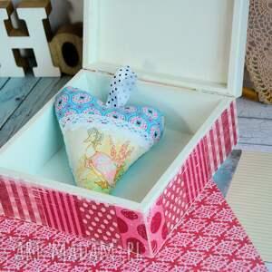 różowe pudełka drewno pudełko - home sweet