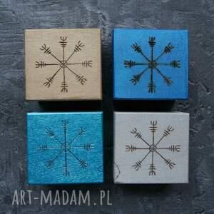 hand made pudełka aegishjalmur ręcznie malowane drewniane pudełko