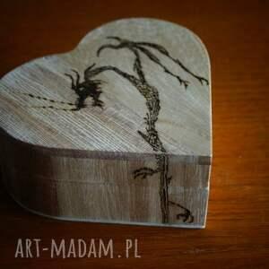 brązowe pudełka smok smocze serce - drewniane pudełko
