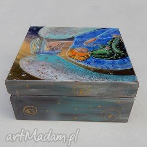 pudełka szkatułka anioł stróż z dzieckiem