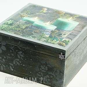 prezent pod choinkęSzkatułka drewniana - Magiczny wieczór - narodzenie drewniane