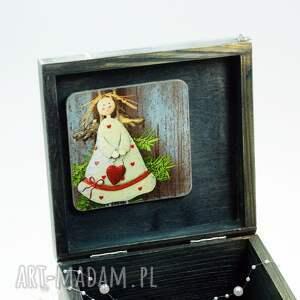 upominki świąteczne pudełko szkatułka drewniana