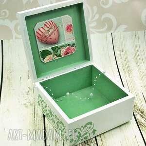 zielone pudełka serce szkatułka - love