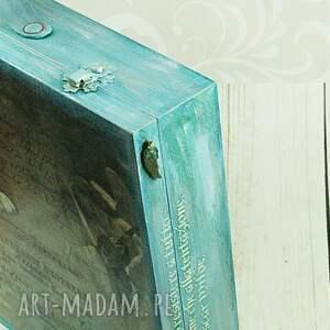 pomarańczowe pudełka pamiątki walizka wspomnień - turkusowe