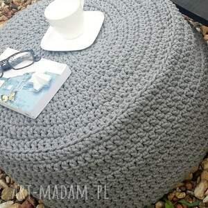 atrakcyjne pufa duża - stolik ze sznurka