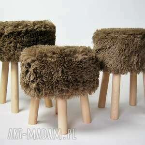 efektowne twórczykąt fjerne m brązowy futrzak