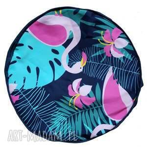 intrygujące pufy flamingi przepiękny pokrowiec do