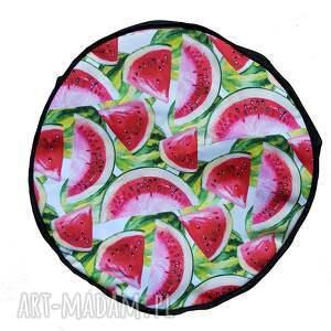 atrakcyjne pufy wnętrza przepiękny pokrowiec w arbuzy do