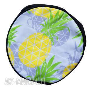 ananasy pufy żółte przepiękny pokrowiec w do