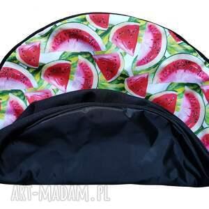 pufy wnętrza przepiękny pokrowiec w arbuzy do