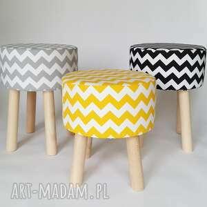 ręcznie zrobione pufy puf stołek siedzisko fjerne m szary
