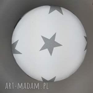 handmade pufa białe gwiazdki - 36