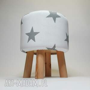 handmade vintage pufa białe gwiazdki - 36