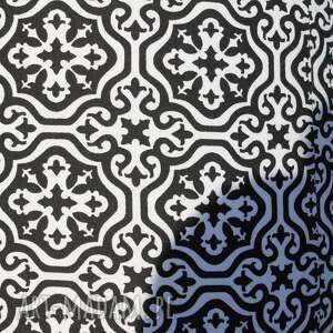 niebanalne pufy stołek pufa czarna mozaika - 36 cm