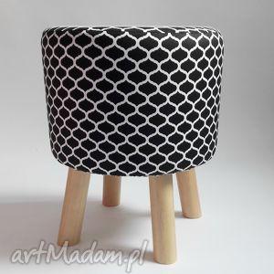 ręcznie robione pufy puf pufa czarne maroco - 36 cm