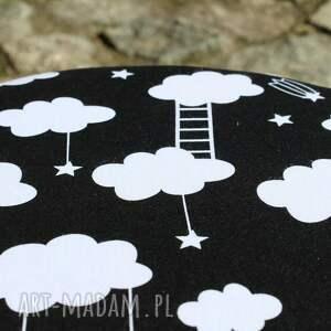 puf pufy czarne pufa chmurki - 36 cm