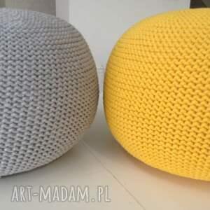 żółty pufa hygge/scandi - 30x50cm