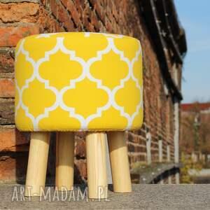 pufy ryczka pufa koniczyna maroco żółto - biała