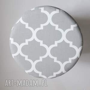 puf pufa koniczyna maroco szaro - biała