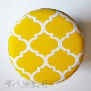puf pufy żółte pufa koniczyna maroco żółto - biała