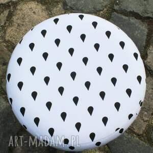trendy pufy puf pufa krople deszczu - 36 cm białe