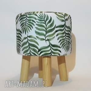 ręcznie wykonane pufy puf pufa liść paproci - 36 cm