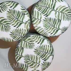 zielone pufy puf pufa liść paproci 2 - 45 cm