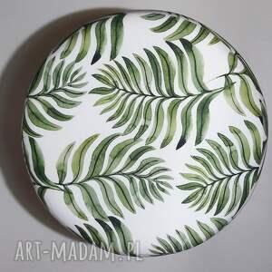 zielone pufy puf pufa liść paproci - 36 cm