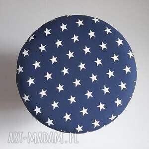 białe pufa niebieskie gwiazdki - 36
