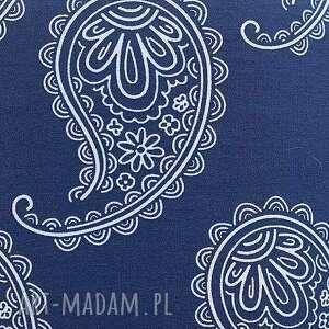 Pufa Niebieskie Paisley 2 - 45 cm - Ręcznie robione puf