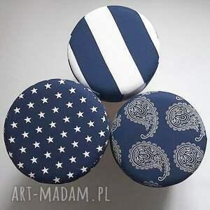 hand made puf pufa niebieskie gwiazdki - 36