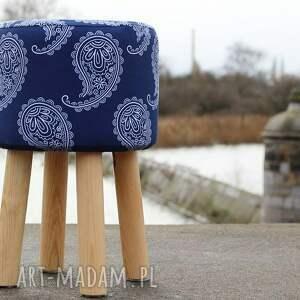 puf niebieskie pufa paisley 2