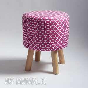 atrakcyjne pufy marco pufa różowe maroco - 36 cm