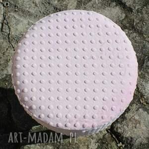 unikatowe pufy puf pufa różowe minky 2 - 45 cm