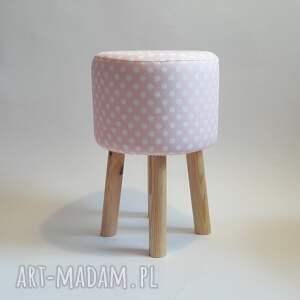 pufy puf pufa różowe grochy 2 - 45 cm