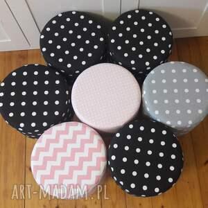 pufy taboret pufa różowe grochy 2 - 45 cm