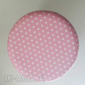 unikalne pufy stołek pufa różowe gwiazdki - 36