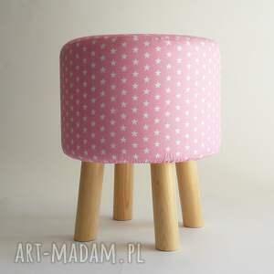 stołek pufy pufa różowe gwiazdki - 36