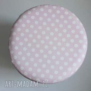 taboret pufa różowe grochy 2