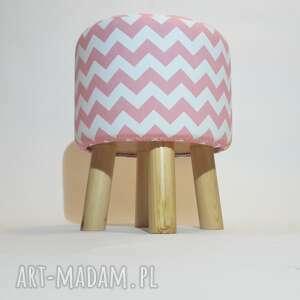handmade puf pufa różowy zygzak