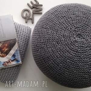 pufa scandi 30x50 - ściągany pokrowiec - szara - sznurka
