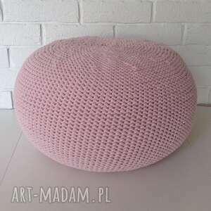 różowa pufa scandi 35x50cm, ściągany