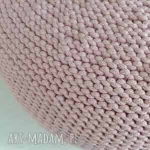 pufy różowa pufa scandi 35x50cm, ściągany