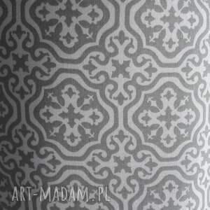 puf pufy białe pufa szara mozaika 2 - 45 cm