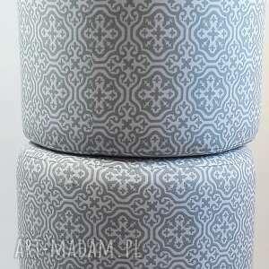 handmade pufy puf pufa szara mozaika 2 - 45 cm
