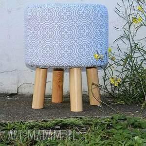 unikatowe puf pufa szara mozaika - 36 cm w modnym