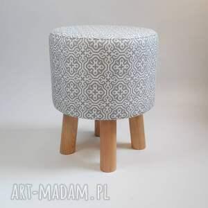 stołek pufa szara mozaika - 36 cm